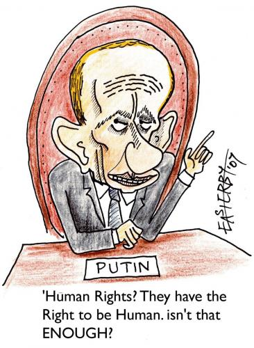 Cartoon: Right 2 b human (medium) by EASTERBY tagged human,rights