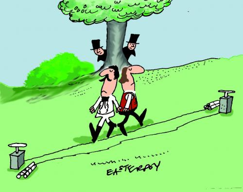 Cartoon: THE DUEL (medium) by EASTERBY tagged duelling,