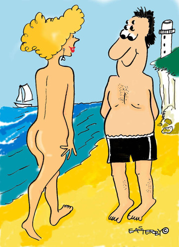Cartoon sex on the beach