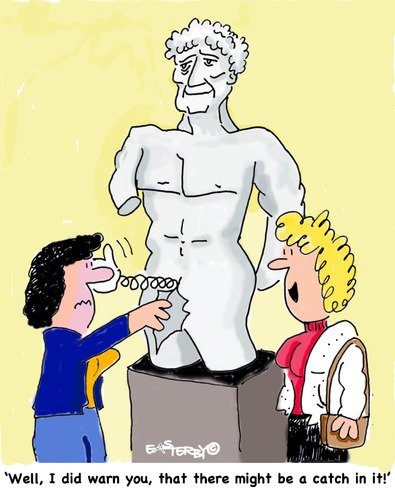 Cartoon: Watch out (medium) by EASTERBY tagged statues,museums