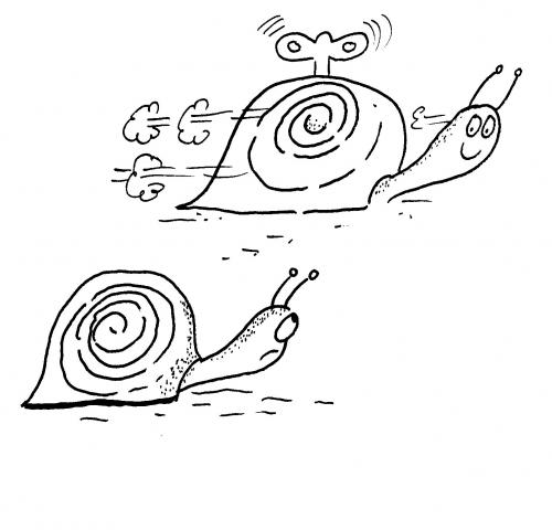 Cartoon: WIND UP SNAIL (medium) by EASTERBY tagged toys,gardens,