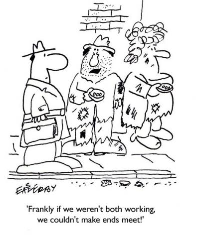 Cartoon: WORK SHIRKER (medium) by EASTERBY tagged beggars