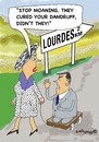 Cartoon: Always hoping (small) by EASTERBY tagged lourde,miracle,healing
