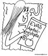 Cartoon: Apfel Rezepte (small) by EASTERBY tagged eve,apple,snake,cookbooks,rezeptbooks