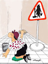 Cartoon: CleanerBeware (small) by EASTERBY tagged warning,signs,cleaners,cleaning