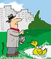 Cartoon: Clockwork Duck (small) by EASTERBY tagged pensioner,duckfeeding