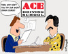 Cartoon: Crash of course (small) by EASTERBY tagged driving,school,learnerdrivers