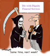 Cartoon: Dead Money (small) by EASTERBY tagged death,funeralls,undertakers