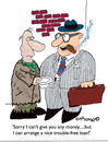Cartoon: Free of trouble Loan (small) by EASTERBY tagged beggar,business