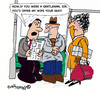 Cartoon: GENTLE MAN? (small) by EASTERBY tagged behaviour,gentlemen