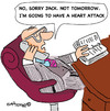 Cartoon: HEART FORECAST (small) by EASTERBY tagged business appoinments health heart attack