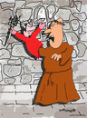 Cartoon: Holy Orders 12 (small) by EASTERBY tagged glove puppets monks devils
