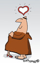 Cartoon: HOLY ORDERS 6 (small) by EASTERBY tagged monks,halos,love