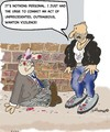 Cartoon: Keep our streets safe!!! (small) by EASTERBY tagged mugging,streetfight,robbery