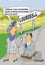 Cartoon: Lourdes (small) by EASTERBY tagged lourdes,miracles,cures