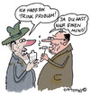 Cartoon: Nur einen Mund (small) by EASTERBY tagged alcohol,drinkproblems
