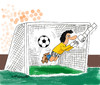 Cartoon: own goal (small) by EASTERBY tagged football goalkeepers