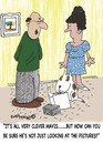 Cartoon: PICTURE LOOKERS WELCOME (small) by EASTERBY tagged dogowners,training