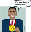 Cartoon: PP Obama (small) by EASTERBY tagged nobel,peace,prize