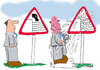 Cartoon: Road Signs 2 (small) by EASTERBY tagged road,works,signs