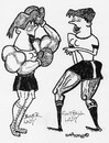 Cartoon: SPORTING LADIES (small) by EASTERBY tagged sport,women,boxing,football