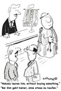 Cartoon: SUPER SALESMAN (small) by EASTERBY tagged sales,salesmen,retail,shops