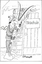 Cartoon: Tag 1 (small) by EASTERBY tagged skischool