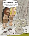 Cartoon: WHEELS Eng (small) by EASTERBY tagged inventions stoneage