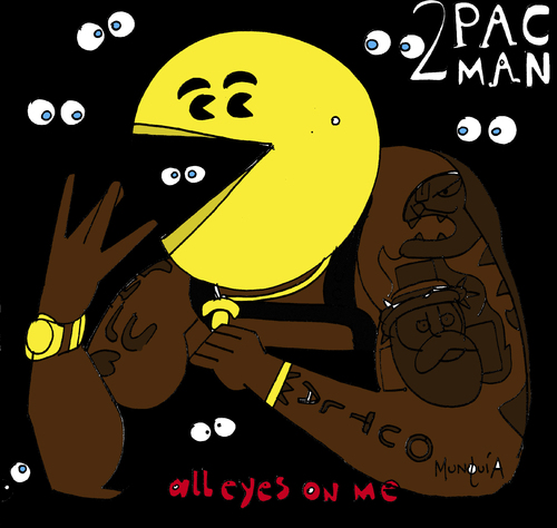 Man Cartoon Video Cartoon 2 Pac Man Medium by