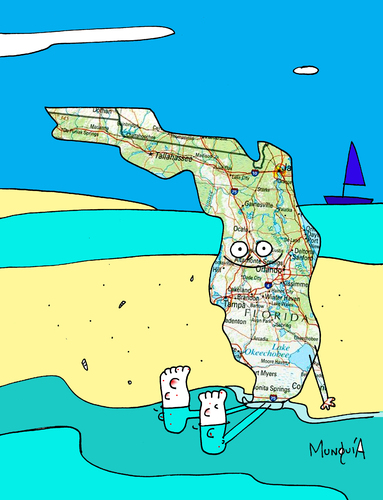 Los Cayos Florida Map.Los Cayos De Florida By Munguia Media Culture Cartoon Toonpool