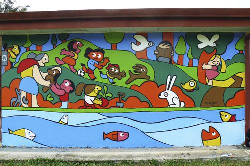 Mural hogar sol by munguia education tech cartoon for Diario mural fiestas patrias chile
