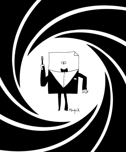 my name is bond paper bond by munguia famous people cartoon toonpool. Black Bedroom Furniture Sets. Home Design Ideas