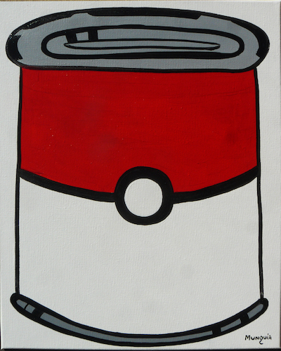 Cartoon: Pokecan (medium) by Munguia tagged pokeball,pokemon,andy,warhol,campbells,tomato,soup,can,famous,paintings,parodies,spoof,cartoon,version