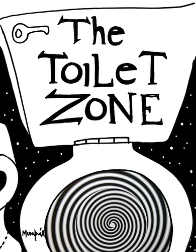 Cartoon: the toilet zone (medium) by Munguia tagged twilight,zone,tv,show,toilet,spiral,hypnotized,hypno