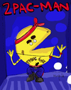 Cartoon: 2Pac-Man (small) by Munguia tagged 2pac,tupac,shakur,rap,rapper,hip,hop,pac,man,video,games,maze,calcamunguias,costa,rica