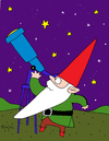 Cartoon: AstroGnome (small) by Munguia tagged astronomer,astro,gnome,astrognomo
