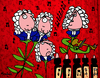 Cartoon: Bach Flowers (small) by Munguia tagged bach,flowers,music,therapy