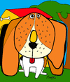 Cartoon: Beagle Beigel (small) by Munguia tagged beagle,beigel,dog,munguia,costa,rica,food,fast