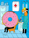 Cartoon: blood Donutr (small) by Munguia tagged donut,dona,rosquilla,munguia,dorctor,blood,donor