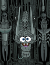 Cartoon: Bob Sponge Giger (small) by Munguia tagged li,ii,hr,giger,bob,sponge,squarepants,parody,horror,painting