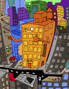 Cartoon: Buddy Building (small) by Munguia tagged body,building,literal,friendly