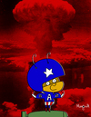 Cartoon: Captain Atomic Ant from America (small) by Munguia tagged september11,911,twin,towers,new,york,terror,usa,2001,japon,hiroshima,atomic,atom,ant,captain,america,starter