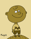 Cartoon: Charlie Brown (small) by Munguia tagged charlie,brown,peanuts,sepia,munguia,costa,rica