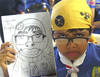 Cartoon: Cub scouts on cartoon portraits (small) by Munguia tagged caricature,cub,scouts,lobatos,costa,rica,lobatas,escultismo,scouting,drawing