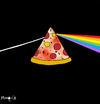 Cartoon: Dark side of the pizza (small) by Munguia tagged pizzapitch,moon,pink,floyd,colours,dark,side,munguia,cover,album,disc,music,rock,progresive