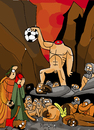 Cartoon: Dont loose your head (small) by Munguia tagged dante,and,virgil,virgilio,divine,comedy,paradise,purgatory,gustave,dore,soccer,ball,hell,headless,head,severed,pain