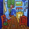 Cartoon: el cuarto de Van Gogh (small) by Munguia tagged van gogh room arles