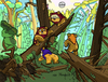 Cartoon: Ewoks (small) by Munguia tagged morning,in,pine,forest,savitski,ivan,shishkin,bears,famous,painting,parody,ewoks,star,wars