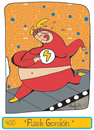 Cartoon: Flash Gordo - Fat Flash (small) by Munguia tagged flash,work,out,exercise,munguia,gordo,fat,overweight,running,comic,marvel
