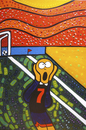 Cartoon: GOOOOL (small) by Munguia tagged the scream munch bridge bruke goal soccer futbol munguia costa rica world